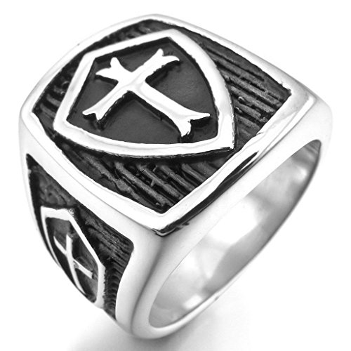 Middle Finger Costume Ebay (Epinki,Fashion Jewelry Men's Stainless Steel Rings Silver Black Celtic Medieval Cross Shield Size 12)