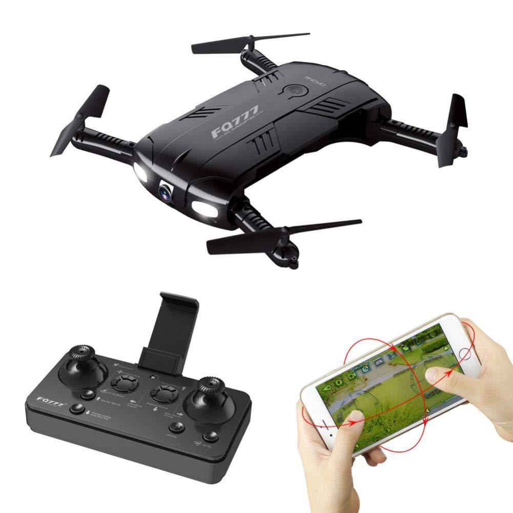 Kingko® FQ777 FQ05 6-Achsen-Gyro 2.0MP Wifi Fpv-Drohnenkamera Selfie Faltbarer Quadcopter Headless-Modus 6-Achs-Gyro mit 4 Kanälen Kontrollentfernung: Ungefähr 60-80 Meter (2 Batterien)