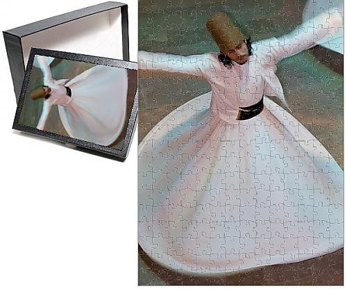 Photo Jigsaw Puzzle of The Mevlevi, (Whirling Dervishes) performing the Sema (ceremony), Istanbul