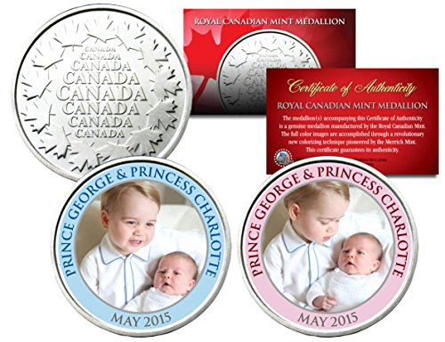 PRINCE GEORGE & PRINCESS CHARLOTTE Set of 2 Royal Canadian Mint Medallion Coins (Royal Canadian Mint Coin Sets)