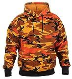 Rothco Camo Pullover Hooded Sweatshirt, M, Savage Orange Camo