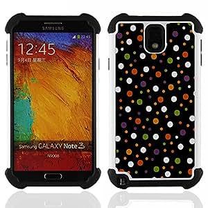 - Colored Polka Vintage Dots Pattern - - Doble capa caja de la armadura Defender FOR Samsung Galaxy Note3 N9000 N9008V N9009 RetroCandy