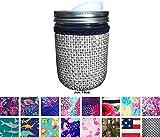 Koverz for Jars - #1 Neoprene Mason Jar Coolie 16 oz Insulator Sleeve - Choose from 14 Styles! - Burlap