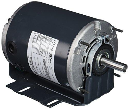 Marathon S120 56 Frame General Purpose Motor, Single Split Phase, Resilient Base, Open Drip Proof, Ball Bearing, 9.2 amp, 1/2 hp, 1800 RPM, 115V ()