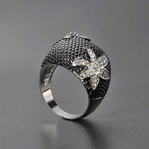 - Wausa Vintage White Sapphire Flower Silver Jewelry Women Wedding Valentines Day Rings | Model RNG - 22486 | #10