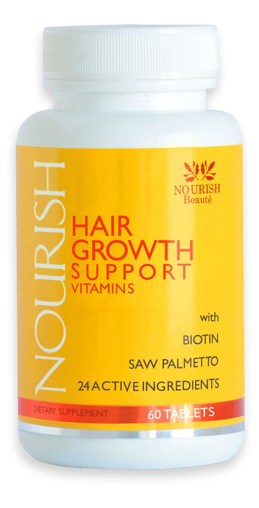 Nourish Hair Growth Vitamins – Nutraceutical Grade Hair Loss Supplement With Biotin and Powerful DHT Blockers - Fast Hair Regrowth Treatment for Men and Women – 100% GUARANTEED