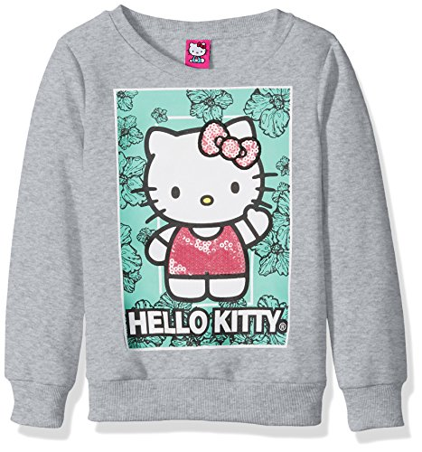 Hello Kitty Girls Sweatshirt with Sequins and Lace Details