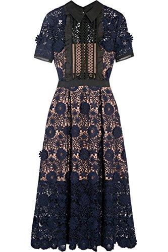 dextrad dress Round Neck Long Sleeve Chiffon Dot Loose Big Size Dress Women