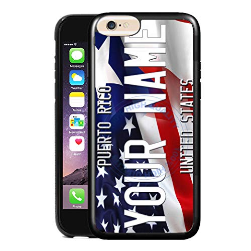 BRGiftShop Customize Your Own Mixed USA and Puerto Rico Flag Rubber Phone Case for Apple iPhone 8 Plus & 7 Plus ()