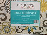 WAVERLY Traditions By Luxury Microfiber FULL Sheet Set, Pom Pom Play Spa