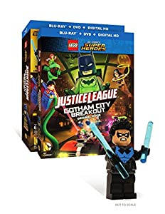 LEGO DC Comics Super Heroes: Justice League: Gotham City Breakout (Blu-ray + DVD + Digital HD + Includes Nightwing Lego Mini figure) by WarnerBrothers
