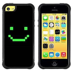 """Pulsar iFace Series Tpu silicona Carcasa Funda Case para Apple iPhone 5C , Juego de ordenador Arte sonriente del Emoticon"""""""