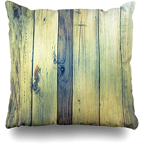 Throw Pillow Cover Decor Cases Square 18 x 18 Inch Exterior Brown Blank Wood Shadows Old Panels Stripe Antique Vintage Board Color Dark Dirty Dry Section Zippered Cushion Case - Shadow Stripe Brown
