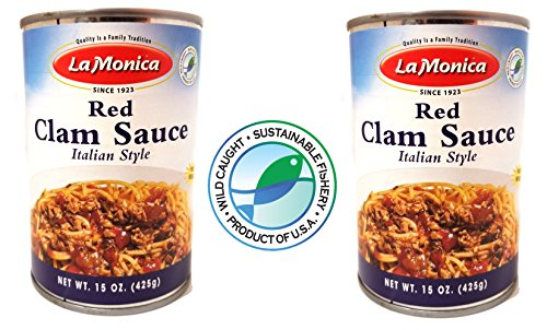 LaMonica Red Clam Sauce Product of the USA. 2 Cans Delicious