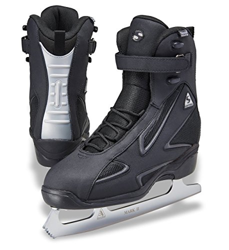 Jackson Ultima Softec Elite ST7002 Black Mens Ice Skates with MARK II blades, Size 10 Black Mens Ice Skates