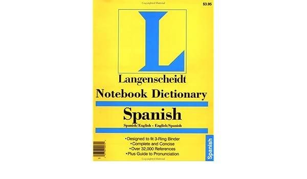 Amazon com: Notebook Spanish Dictionary (Spanish Edition