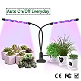 Grow Light, ZEMOJ LED Plant Grow Lamps for Indoor Plants, 18W 36 LEDs Plant Grow Lights with Stepless Adjusted Dimmable Levels for Gardening,Greenhouse Dual Heads Red/Blue Spectrum