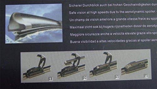 500mm 2 x SUPER QUALITÄT Aero Soft Flat Scheibenwischer 24 20 zoll TÜV 600mm