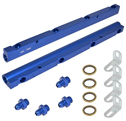 High Flow Blue Aluminum Performance Injector Fuel Rail Assembly For Chevy/GMC Ls1 Ls6 Engines