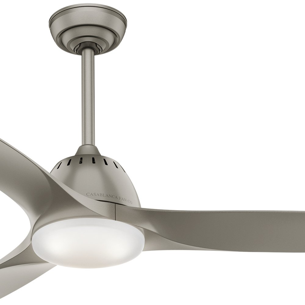 Casablanca 52 in. Contemporary Ceiling Fan in Pewter with Cased White Glass LED Light Kit and Remote Control (Certified Refurbished)