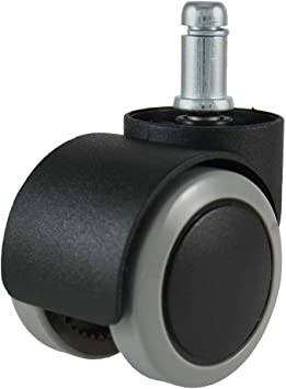 4 Pack Yeah-hhi Ball Furniture Casters,50Mm Black PP Silent Universal Swivel Chair Replacement Wheel for Office Home Hospital