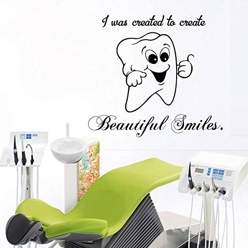 Ami0707 Tatuaje de Pared Cute Smile Tooth Vinyl Sticker Window ...