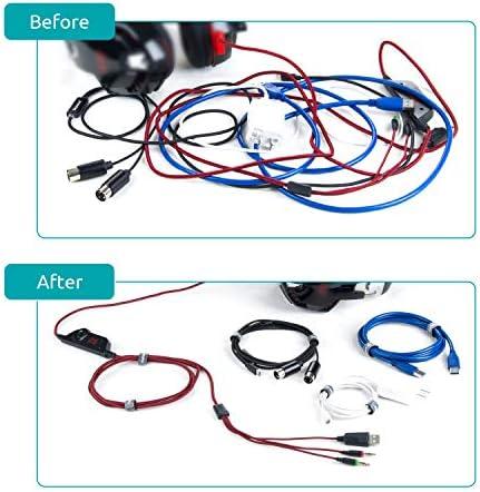75 piezas Tiras autoadhesivas DigitalLife Correas de tiras de cable reutilizables peque/ñas para envoltura de almacenamiento de cable delgado