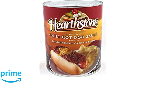 Amazon.com : Hearthstone Chili Hot Dog Sauce With Beef, 6 lb can, 110 oz : Grocery & Gourmet Food