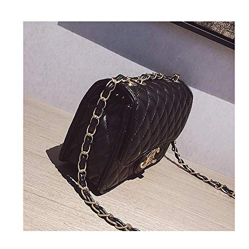 (Small Handbags for Women Lingge Laboy Flap Cute Crossbody Bags for Women Cell Phone Purse with Chain -Black)