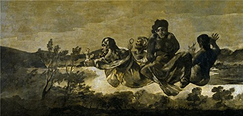 Oil Painting 'Goya Y Lucientes Francisco De The Fates (Atropos) 1821 23' 18 x 38 inch / 46 x 95 cm , on High Definition HD canvas prints is for Gifts And Basement, Living Room And Powder Room decor