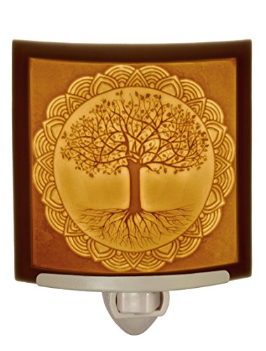 Tree of Life - Curved Porcelain Lithophane Night Light by The Porcelain Garden