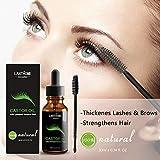 Anself Lanthome Eyelash Growth Serum Nourish Hair Essential Castor Oil for Fast Hairs Growing Thicker Eyelashes Reduce Hair-loss 10ml