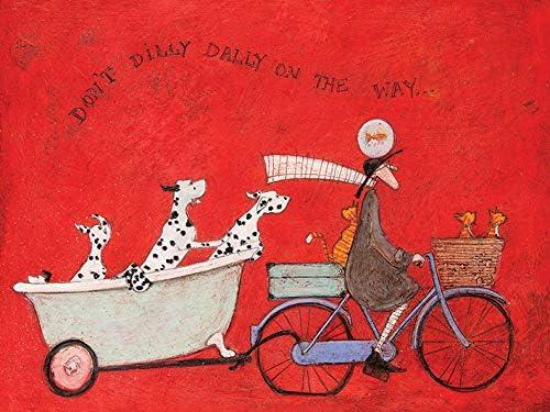 60 x 80 cm Sam Toft Dont Dilly Dally on The Way Leinwanddruck Mehrfarbig
