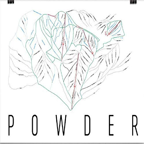 Powder Poster, Powder Ski Resort Poster, Powder Art Print, Powder Trail Map, Powder Trail Map Art, Powder Wall Art Poster, Powder Matter Gift - Size 12