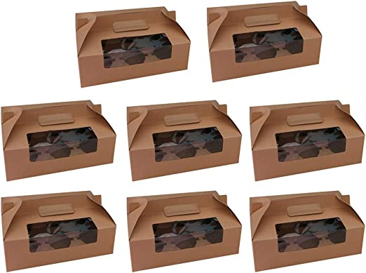 Toyvian 8 piezas cajas de panadería magdalenas magdalenas cajas de ...