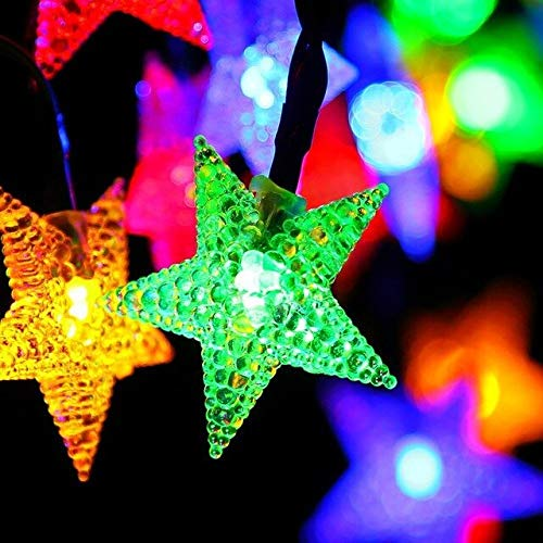 Five-Pointed Star Christmas Bracelets String | Halloween Outdoor Decoration]()