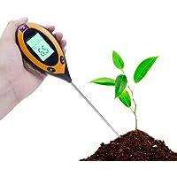 Gaocunk 4 in 1 Bodem Ph Tester Digitaal, PH Niveaus Temperatuur Zonlicht Intensiteit Survey Instrument voor Tuin Farm…