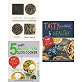 img - for Salt fat acid heat [hardcover], 5 simple ingredients slow cooker and tasty & healthy 3 books collection set book / textbook / text book