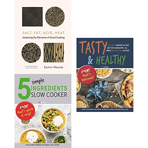 : Salt fat acid heat [hardcover], 5 simple ingredients slow cooker and tasty & healthy 3 books collection set