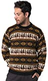 Gamboa Tarjetero Alpaca Sweater (Large, Green Tones) (X-Large, Brown Tones)