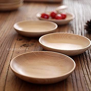 Creative Japan Style Eco-friendly wood tableware wooden plates dishes snack plates fruit nuts dessert & Amazon.com   Creative Japan Style Eco-friendly wood tableware wooden ...