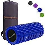 Foam Roller Massager Trigger Point Therapy SmarterLife - Massage Rollers Sore Muscles, Pre Post Workout, Exercise, Recovery, Yoga, Pilates, Cycling Running (Blue)