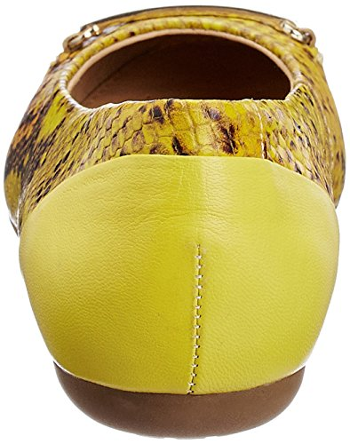 Skin Print Yellow Ballet Leather Geox Pumps Lime Snake w1qpE