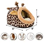 Hollypet Warm Small Pet Animals Bed Dutch Pig Hamster Cotton Nest Hedgehog Rat Chinchilla Guinea Habitat Mini House 10