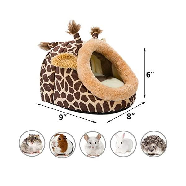 Hollypet Warm Small Pet Animals Bed Dutch Pig Hamster Cotton Nest Hedgehog Rat Chinchilla Guinea Habitat Mini House 3