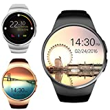 Image of Bluetooth Smart Watch, Keoker 1.3 inches IPS Round Touch Screen Water Resistant Smartwatch Phone with SIM Card Slot,Sleep Monitor,Heart Rate Monitor and Pedometer for IOS and Android Device (Black)
