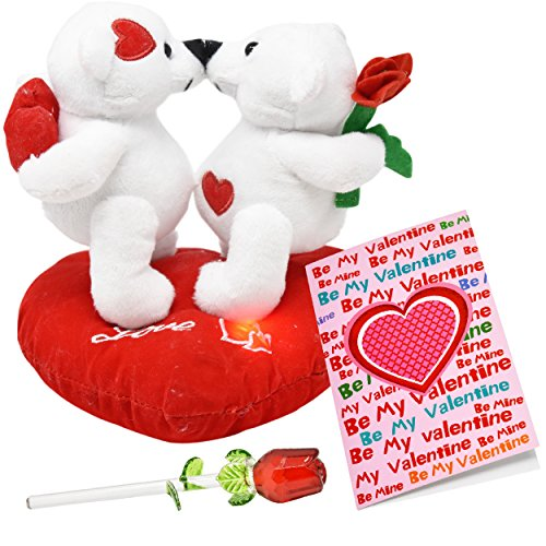 Valentines day gifts for her girlfriend women and wife plush bear gift boutique valentine gift set includes 2 of the most popular valentine gifts valentine greeting card all you need to give your loved one on valentine m4hsunfo