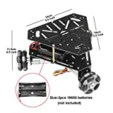 heneng Smart Robot Tank Car Platform Chassis with 3 PCS Powerful DC 9V Hall Motor Metal Body Universal Wheels DIY Self-Assembled Compatible with Arduino, Raspberry Pi
