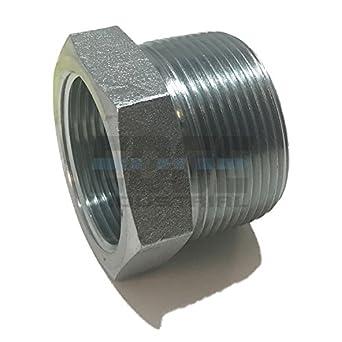 Oil//Gas AIR//Water EDGE INDUSTRIAL Steel Street TEE 1//4 FNPT X 1//4 MNPT HYDRUALIC//Fuel WOG
