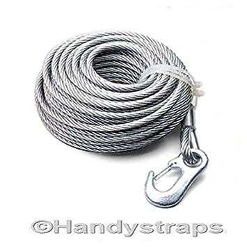 1,6 Tonnen Draht Seilwinde Kabel mit Seilwinde Haken 4 mm x 15 ...
